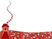 Maison de Valentine Photographie stock libre de droits