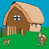 Maison de village Illustration de Vecteur