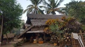 Maison de village dans Myanmar photo libre de droits