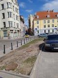 Maison de ville de rue de lativa de Riga images libres de droits
