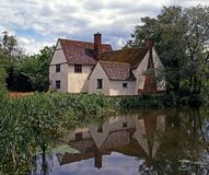 Maison de Willy Lotts, Bergholt est, Angleterre. Images libres de droits