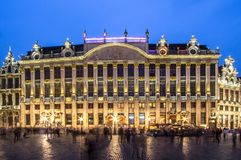 Maison des Ducs DE Brabant in Brussel, België stock fotografie