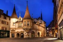 Maison des Halles, Neuchâtel, Zwitserland Stock Foto