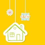 Maison douce à la maison Images libres de droits