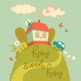 Maison douce à la maison Images stock
