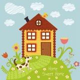 Maison douce à la maison Photo stock