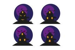 Maison drôle de Halloween Image libre de droits