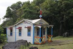 Maison du Bagnard in Anse Cafard, Le Diamant in Martinique Royalty-vrije Stock Fotografie