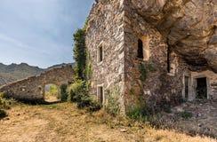 Maison du bandido perto de Feliceto em Córsega Fotografia de Stock