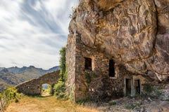 Maison du bandit cerca de Feliceto en Córcega Fotos de archivo libres de regalías
