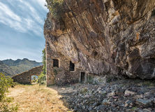 Maison du bandit near Feliceto in Corsican Stock Photography