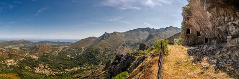 Maison Du Bandyta blisko Feliceto w Corsica Fotografia Stock
