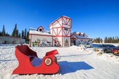 Maison du père noël, Pôle Nord Images libres de droits