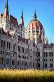 Maison du Parlement de la Hongrie à Budapest Images libres de droits