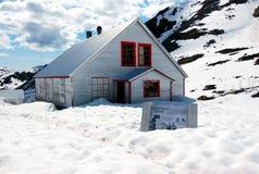 Maison du rapport du mineur abandonné Photo stock
