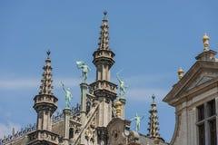 Maison du roi in Brussel, België stock foto's