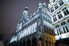 Maison du Roi en Grand Place, Bruselas Foto de archivo