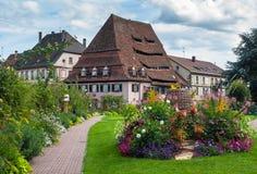 Maison du Sel au centre historique de Wissembourg Image libre de droits