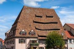 Maison du Sel au centre historique de Wissembourg Photo stock