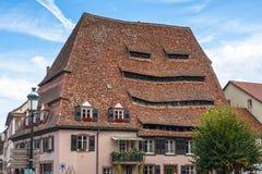 Maison du Sel - de Zoute Opslag in Wissembourg Stock Fotografie