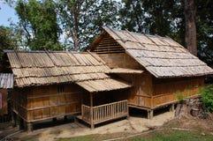 Maison en bambou Photos libres de droits