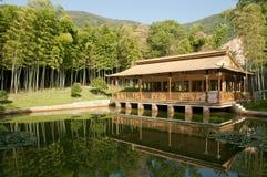 Maison en bambou Images libres de droits