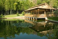 Maison en bambou Photo libre de droits