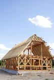 Maison en bois écologique Image libre de droits