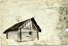 Maison en bois illustration de vecteur