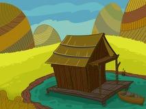 Maison en bois Image libre de droits