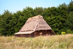 Maison en bois antique Photo stock