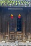 Maison en bois antique en Hoi An, Vietnam image libre de droits