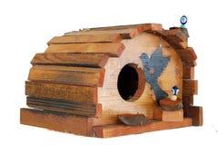 Maison en bois d'oiseau Photo libre de droits