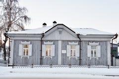 Maison en bois dans Tobolsk, Russie Photo libre de droits