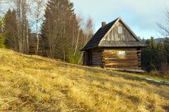 Maison en bois de cottage photo stock