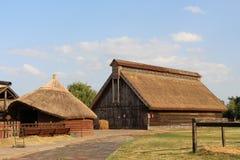 Maison en bois de pays photo stock