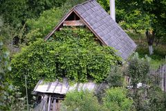 Maison en bois en Roumanie Photographie stock