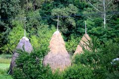 Maison en bois en Roumanie Images libres de droits