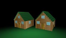 Maison en bois, illustration 3d Photos stock