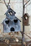 Maison en bois pour des oiseaux image libre de droits