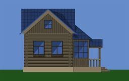 Maison en bois rustique de cottage Photographie stock