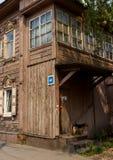 Maison en bois sibérienne photo libre de droits