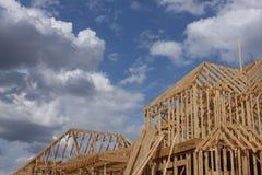 Maison en construction Photos stock
