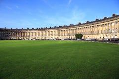 Maison en croissant royale à Bath en Angleterre photos libres de droits