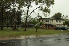 Maison en hausse de Rothwell d'eaux d'inondation photos libres de droits