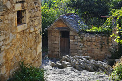 Maison en pierre Photos stock