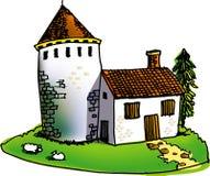maison en pierre Photo stock