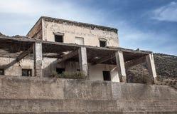 Maison en pierre d'abandon Images stock