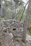 Maison en pierre de berger Photos stock