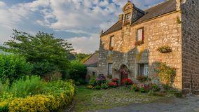 Maison en pierre médiévale images libres de droits